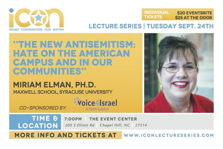 ICON, Voice4Israel, Miriam Elman